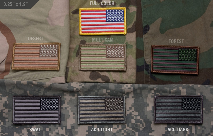 Flags dark threads for Proper placement of american flag